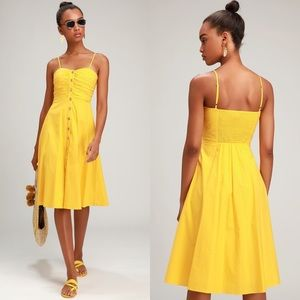 Lulu's | Sweet Treat Button Up Midi Dress
